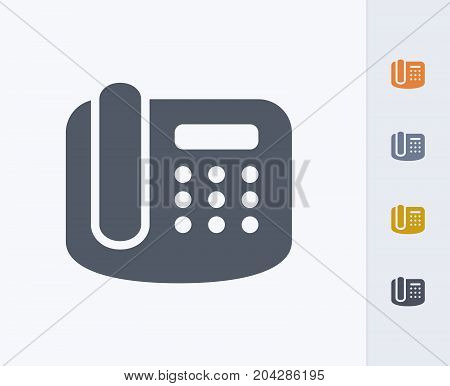 Office Phone - Carbon Icons. A professional, pixel-perfect icon designed on a 32x32 pixel grid and redesigned on a 16x16 pixel grid for very small sizes