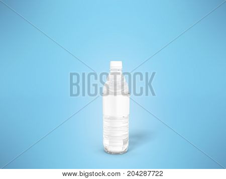Concept Of A Small Plastic Bottle Of White 3D Rendering On A Blue Background
