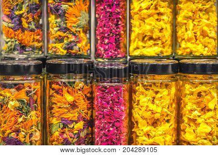 flower petals jar texture background scent edible