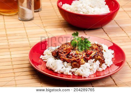 Chinese Sticky Pork Sirloin Roasted With A Sweet And Savory Sauce