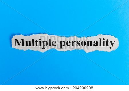 Multiple personality Syndrome text on colorful sticky notes Against the background of question marks