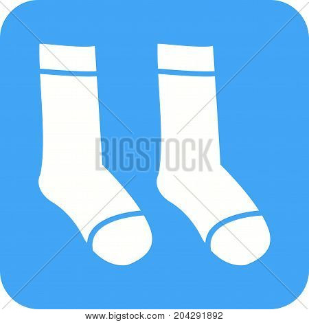 Warm, socks, wool icon vector image. Can also be used for Mens Accessories. Suitable for use on web apps, mobile apps and print media.