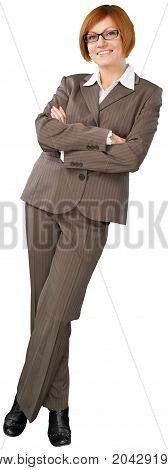 Woman businessperson businesswoman executive smile friendly female