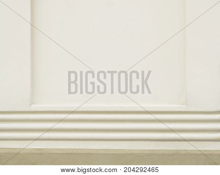 Wall with molding. Arquitectural detail in a column.
