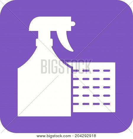 Cloth, home, spray icon vector image. Can also be used for Cleaning Services. Suitable for web apps, mobile apps and print media.