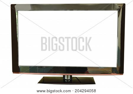 light emitting diode television on white background