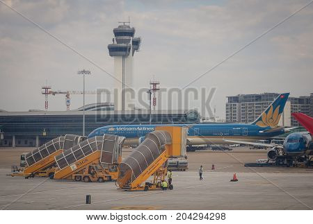 Control Tower At Airport In Saigon, Vietnam