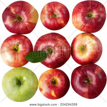 Apples red fruit ripe freshness line uniqueness