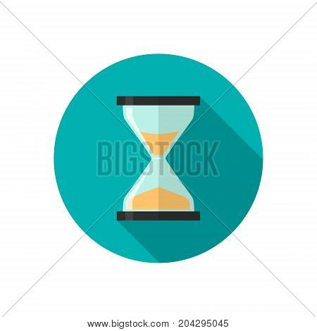 Vector icon of a color hourglass in trendy flat style