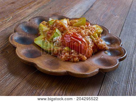 Turkish Dish With Zucchini And Rice