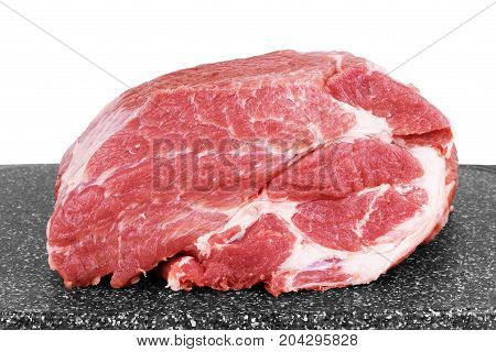 Raw meat on a chopping board Cutting, Steel, Wooden, Board, Butcher, Ingredient, .