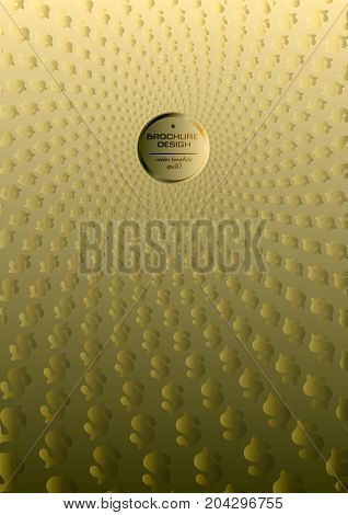 Cover Of Document. Abstract Background A4 Format. Halftone Pattern Spiral. Album, Annual Report. Gol