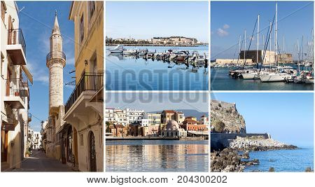 The cityscapes of ancient cities (Crete, Greece)
