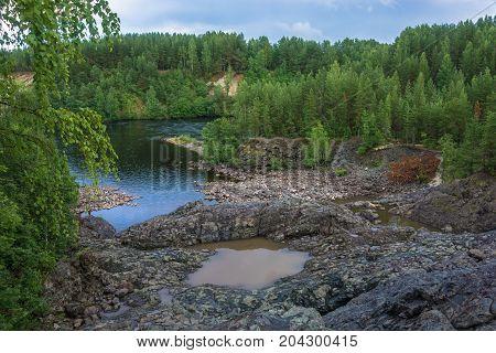 On An Ancient Volcano Girvas, Karelia.