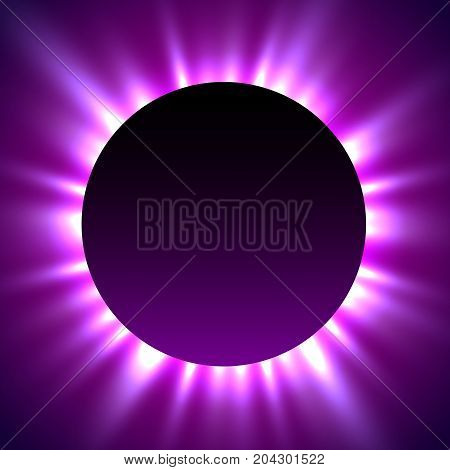 Total eclipse of the sun. eclipse magic background. Vector illustration