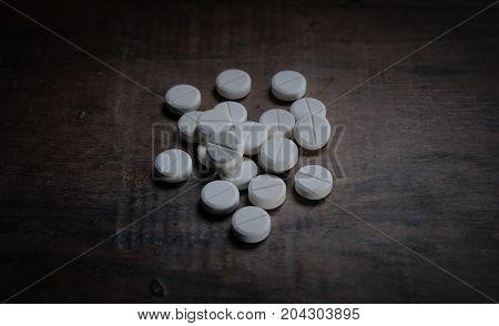 White pills, white milk pills, dangerous drugs
