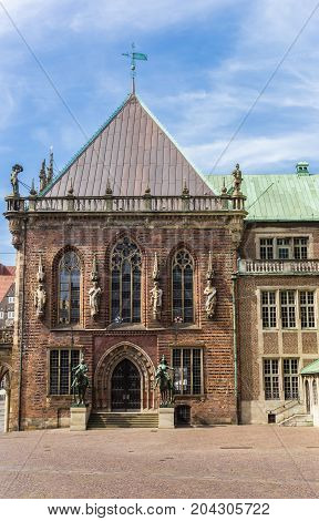 Side Wing Of The Historical Town Hall Of Bremen