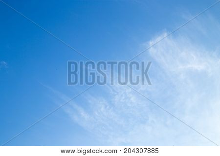 beautiful background of clouds against blue sky