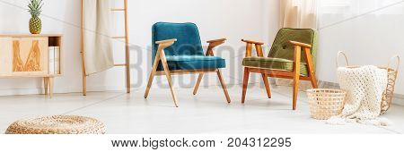 Vintage Chairs In Living Room