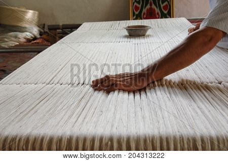 Production And Weaving Of Carpets And Fabrics
