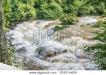 River cascades in the Appalachian mountains  of eastern Tennessee.