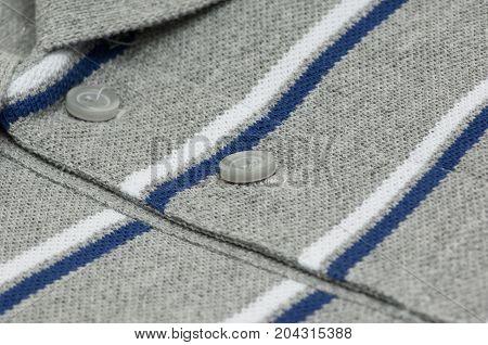 Grey T-shirt Closeup