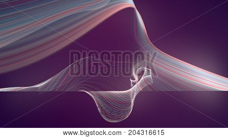 Abstract computer generated colored background. 3d rendering