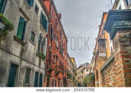 some historic buildings in Venice in Italy