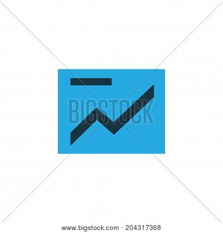 Premium Quality Isolated Chart Element In Trendy Style.  Presentation Colorful Icon Symbol.