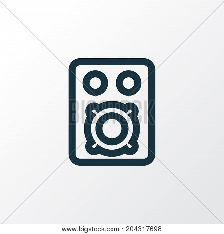 Premium Quality Isolated Speaker Element In Trendy Style.  Amplifier Outline Symbol.