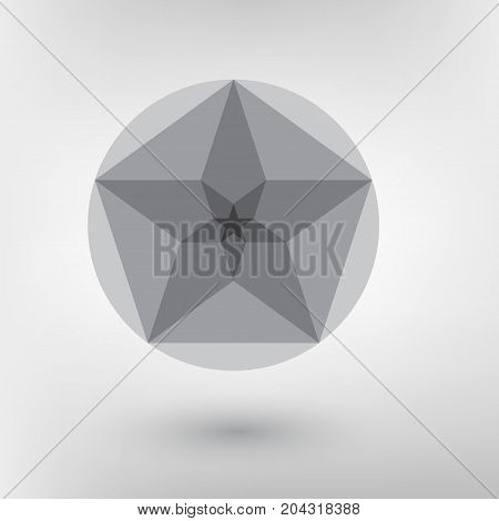 Minimalistic Style Design Golden Ratio. Futuristic Design. Geometric Shapes