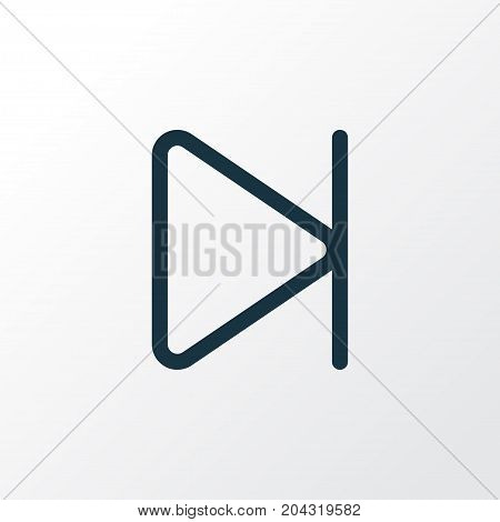 Premium Quality Isolated Finish Element In Trendy Style.  End Outline Symbol.