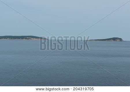 Across North Bay to Ingoish Island Cape Breton Island Nova Scotia Canada