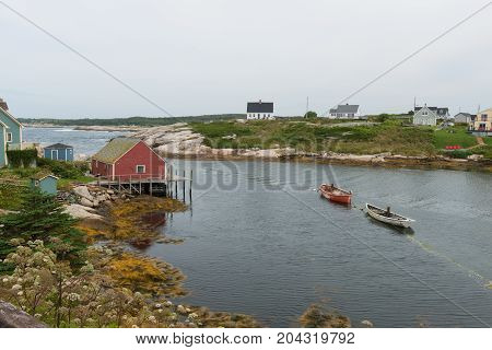 Fishing village Peggy's Cove Nova Scotia Canada