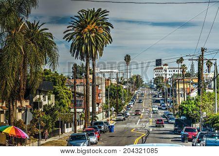 Oakwood avenue in Los Angeles in California