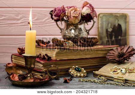 Beautiful Still Life In Vintage Style