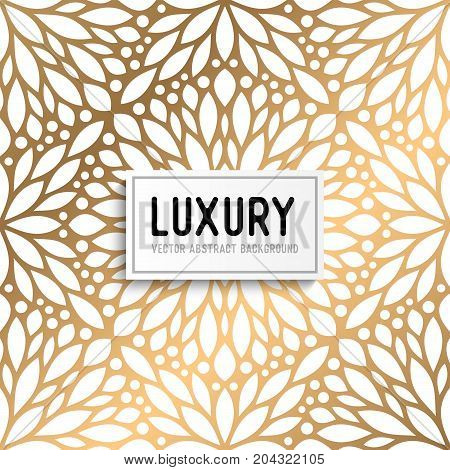 Luxury gold vector pattern in ethnic style
