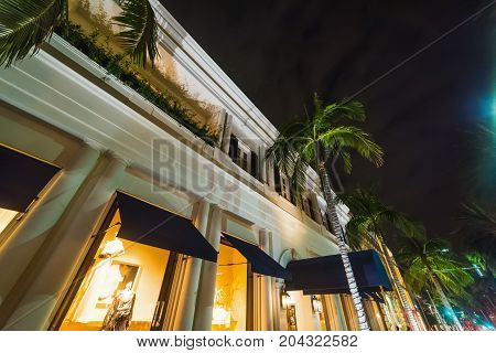 Elegant building in Rodeo Drive Beverly Hills. California USA