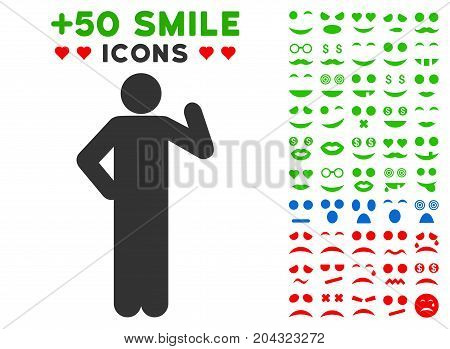 Proposal Pose pictograph with colored bonus mood graphic icons. Vector illustration style is flat iconic symbols for web design, app user interfaces, messaging.