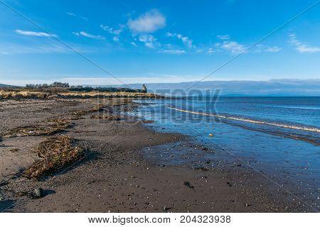 The beach at Greenan on the Ayrshire coast.