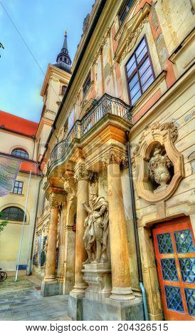 Entrance of Governor's Palace in Brno - Moravia, Czech Republic