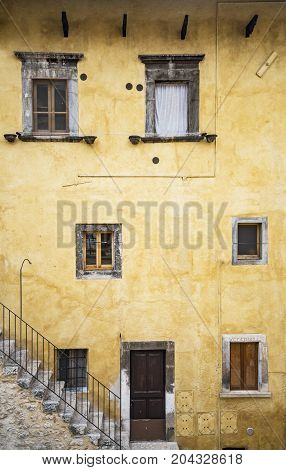 pictorial old buiding of Italian villages in Abruzzi Italy