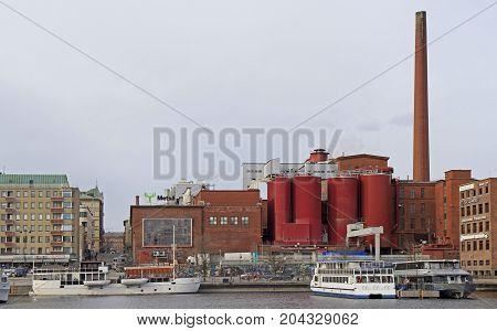 Tampere, Finland - April 7, 2017: Tako cardboard factory in city Tampere Finland