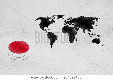 Fix The World Red Button Next To Map