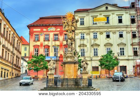 Holy trinity column in Brno - Moravia, Czech Republic