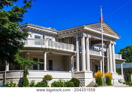 Classic Two Story Building With Wrap Around Porches