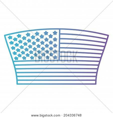 flag united states of america geometric design in color gradient silhouette from purple to blue vector illustration