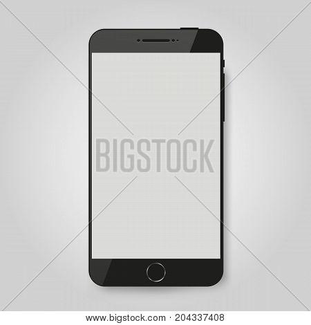 Black mobile smart phone mock up. Game design, smartphone mobile application presentation or portfolio mockups. Vector illustration