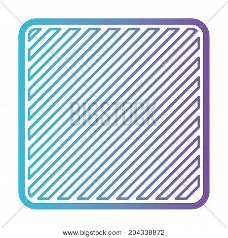 square shape emblem in color gradient silhouette from purple to blue vector illustration