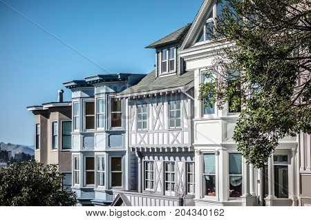Historic Victorian Home in San Francisco California USA